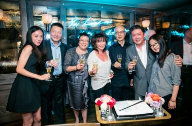 Long Yu, Qigang Chen,  Li Nan, Lady Davies and guests